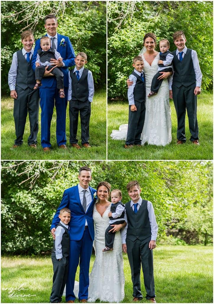 Cindyrella's Wedding Garden bride and groom with kids
