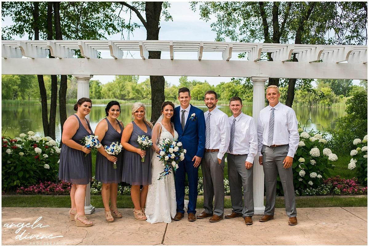 Cindyrella's Wedding Garden bridal party
