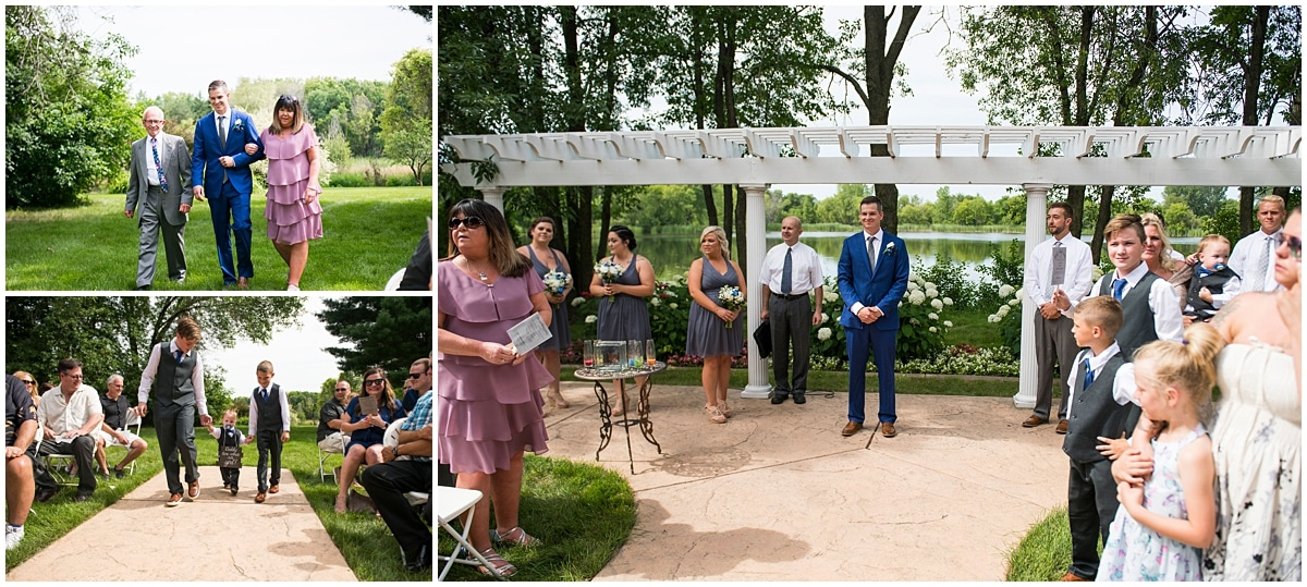 Cindyrella's Wedding Garden walking down the aisle