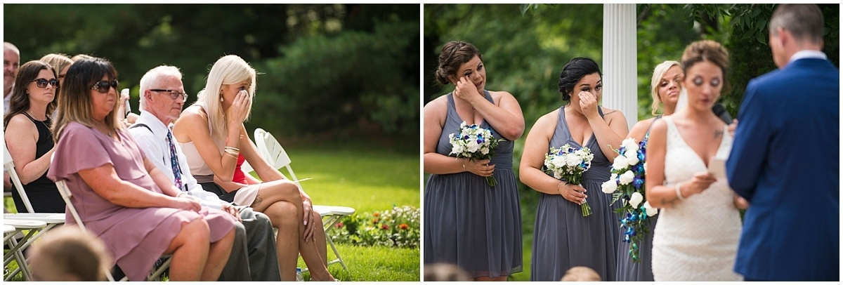 Cindyrella's Wedding Garden exchanging vows