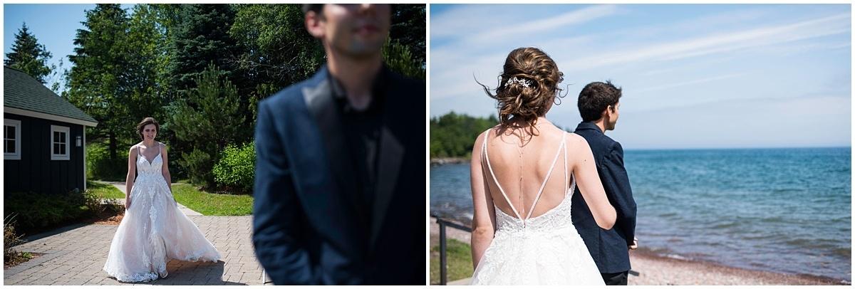 Bluefin Bay Wedding first look