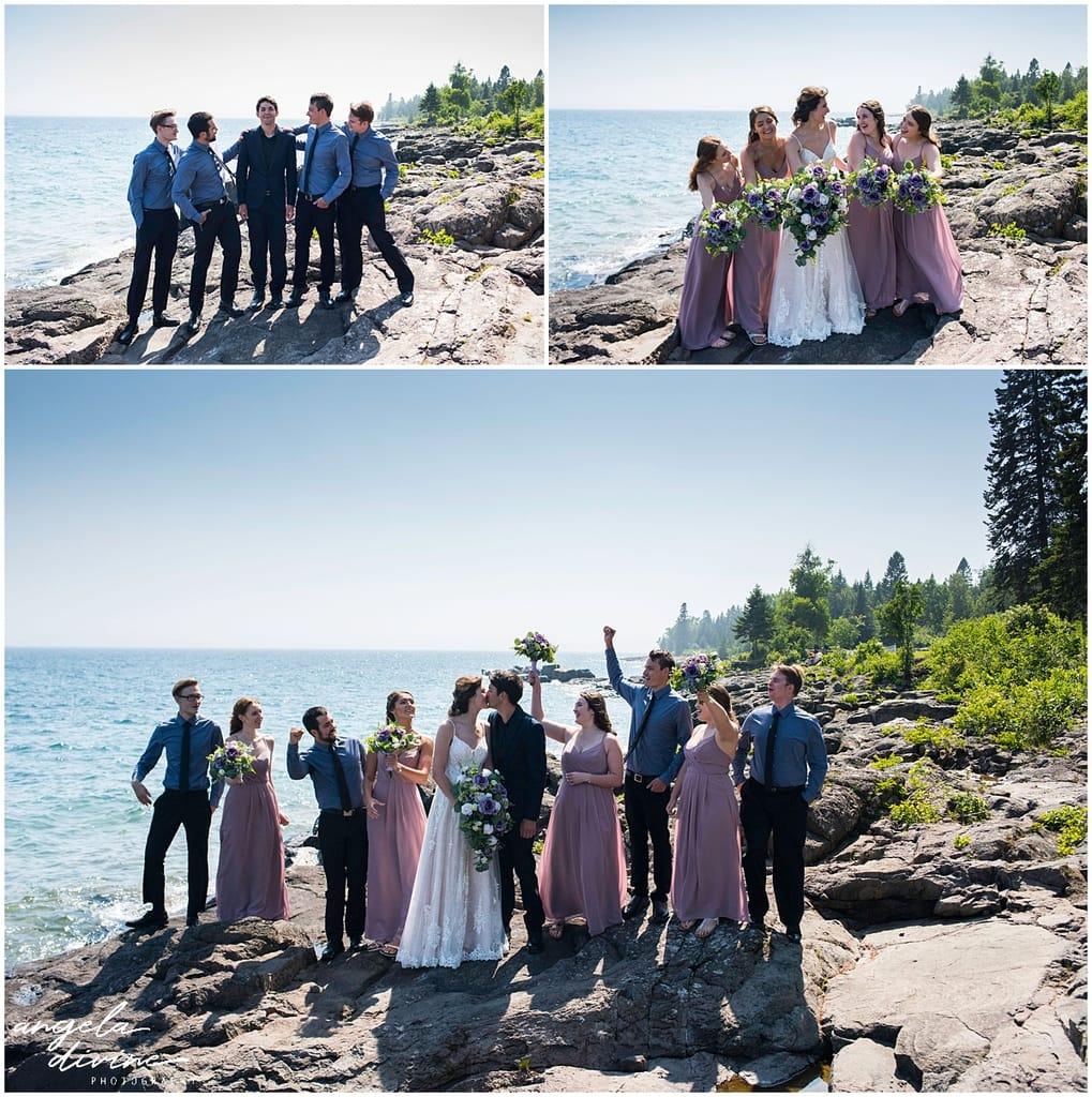 Bluefin Bay Wedding bridal party
