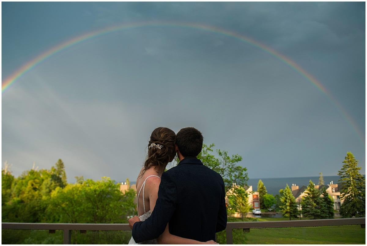 Bluefin Bay Wedding rainbow