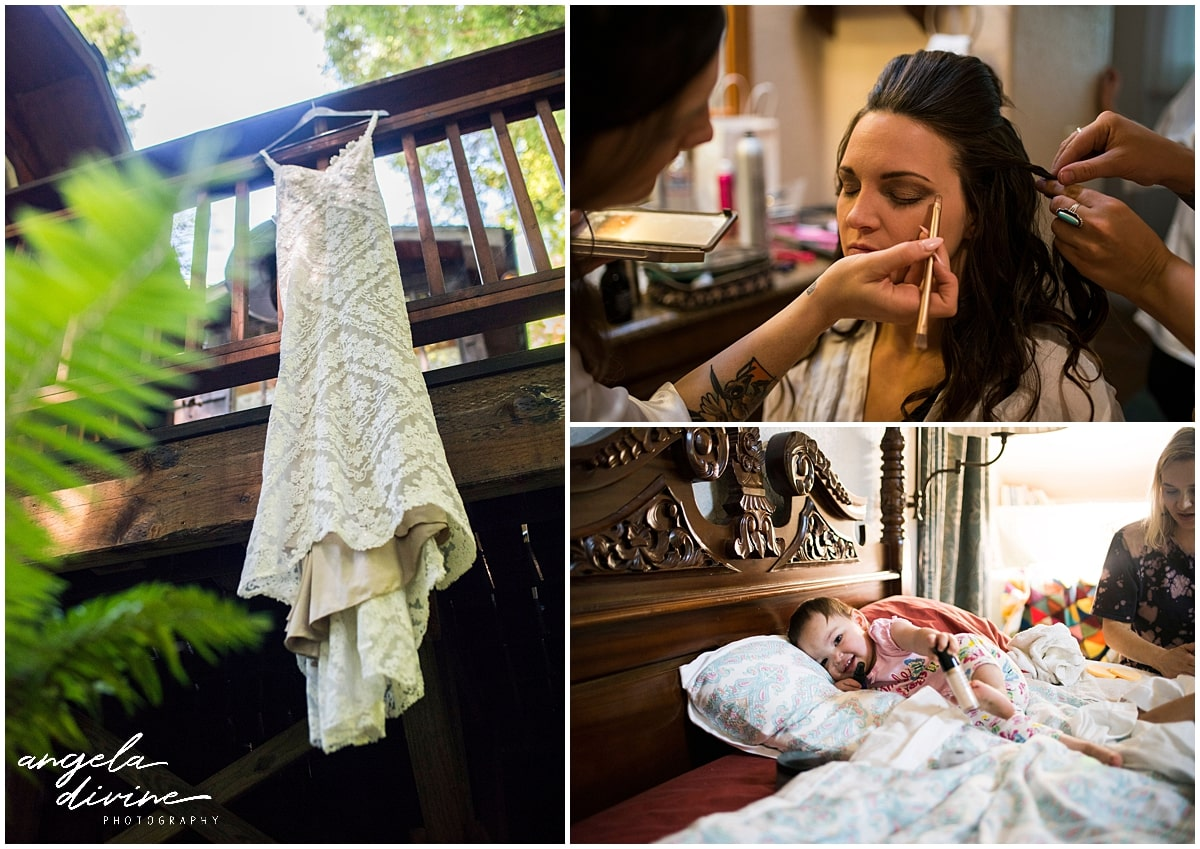 Merryman's Beach House Wedding gown and makeup