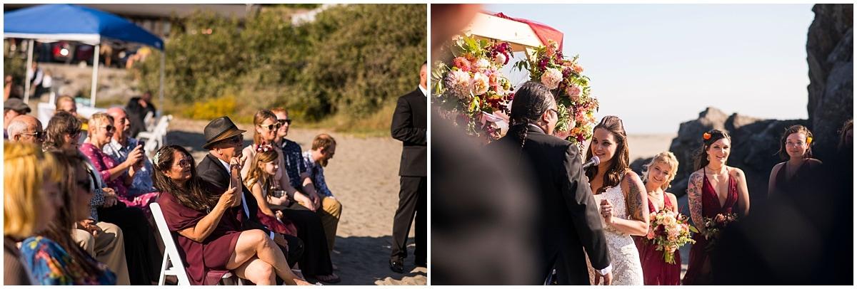 Merryman's Beach House Wedding ceremony