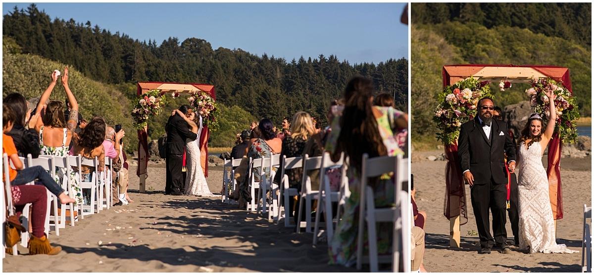 Merryman's Beach House Wedding kiss the bride
