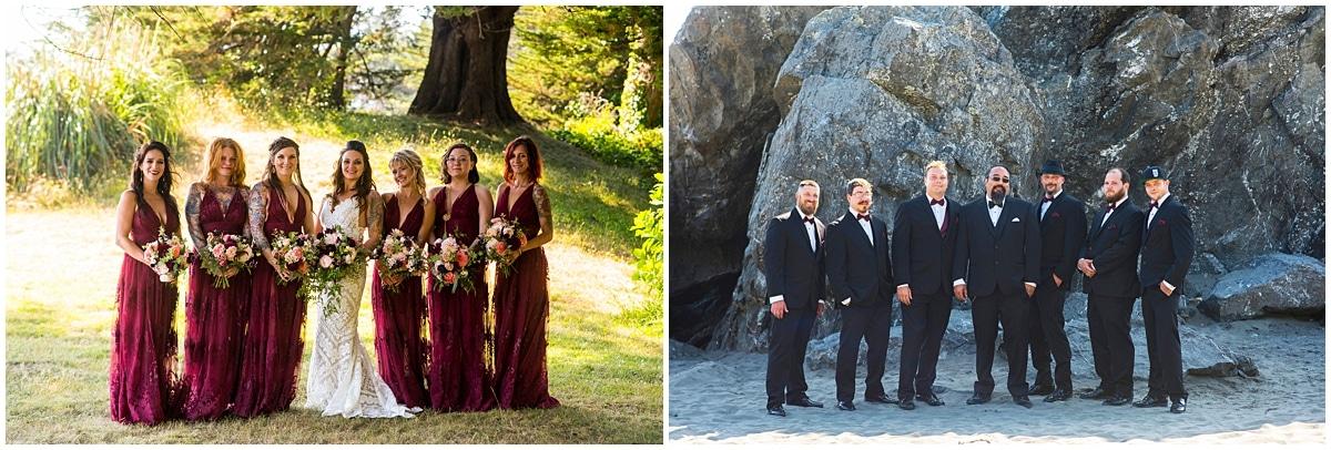 Merryman's Beach House Wedding bridal party