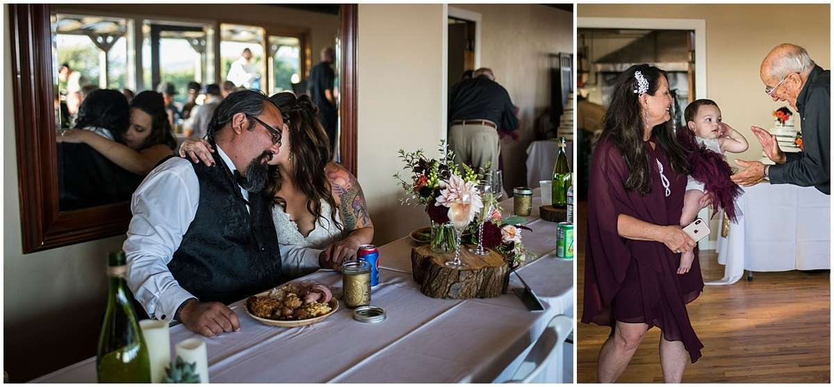 Merryman's Beach House Wedding dinner