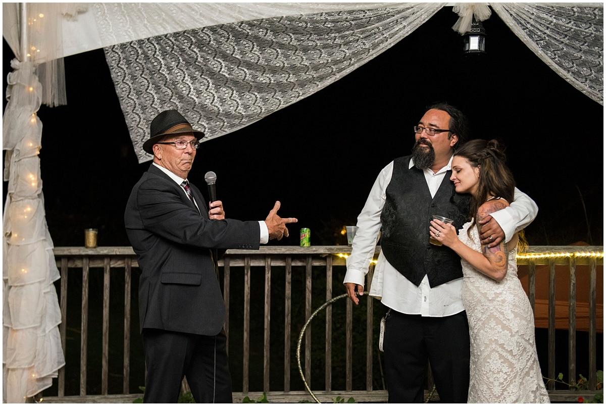 Merryman's Beach House Wedding toasts