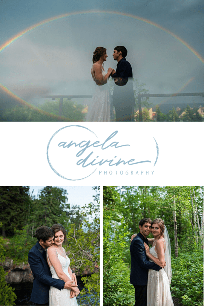 These photos are from a summer wedding and reception at Bluefin Bay on the rocks of North Shore, MN. If you are a fan of rainbows over Lake Superior and heart-warming love stories, visit my blog for my favorite photos from their wedding. | Angela Divine Photography | Minneapolis wedding + brand photographer | #wedding #summerwedding #bluefinbay #northshore #weddingphotographer | https://angeladivinephotography.com/bluefin-bay-wedding-erin-will/