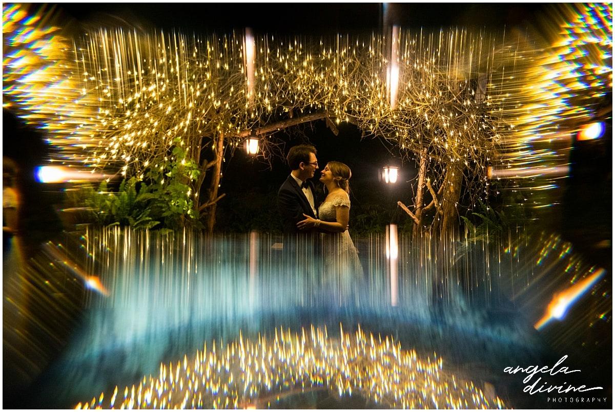 Camrose Hill Wedding light effects