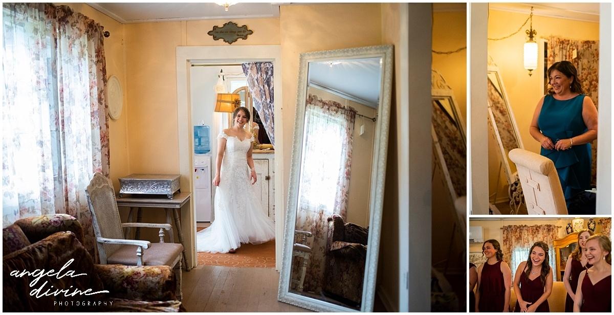 Camrose Hill Wedding bride getting ready
