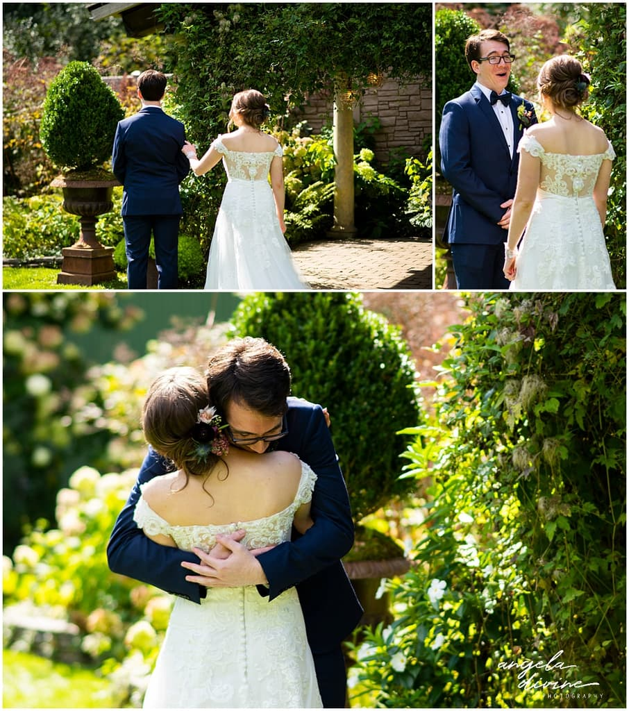 Camrose Hill Wedding first look