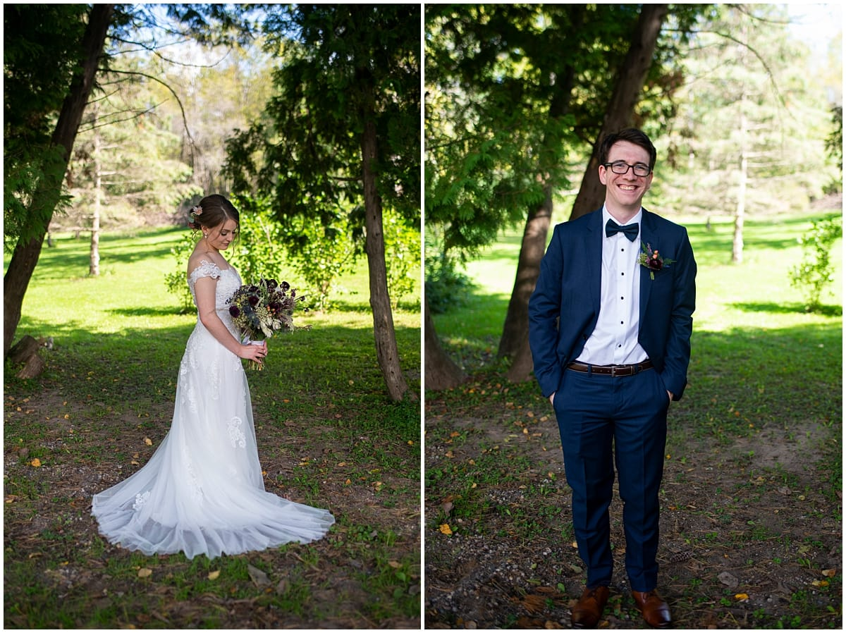 Camrose Hill Wedding bride and groom portraits