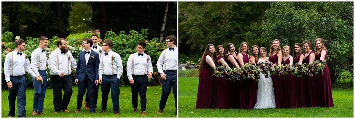 Camrose Hill Wedding bridal party