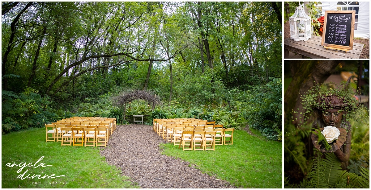 Camrose Hill Wedding ceremony seating