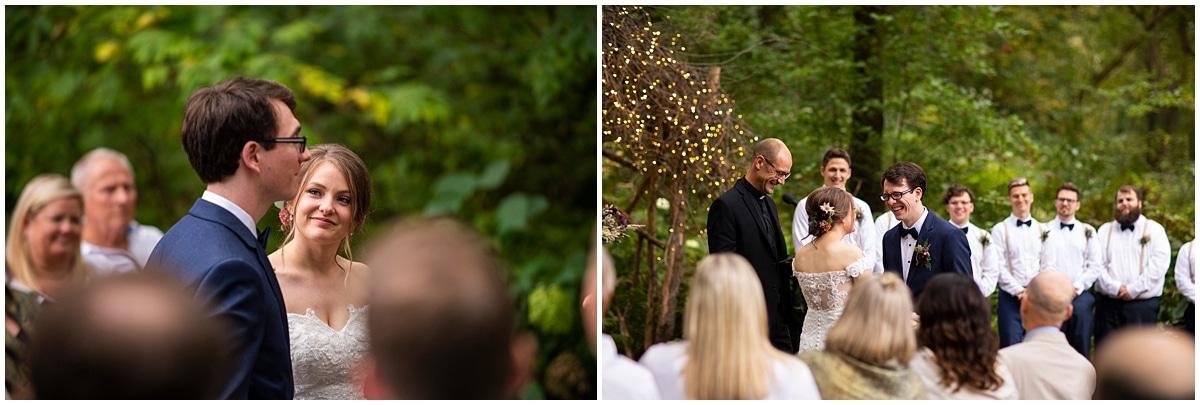 Camrose Hill Wedding exchanging vows