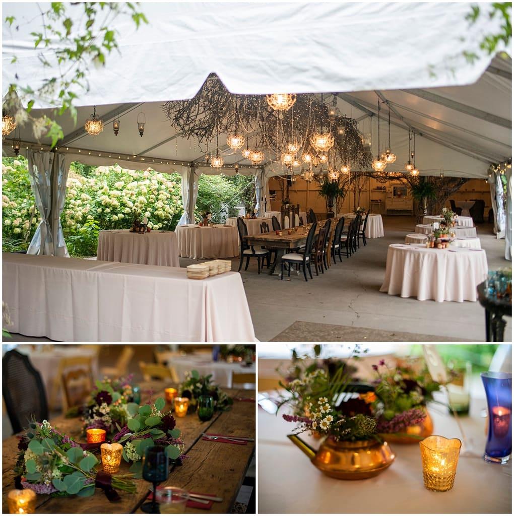 Camrose Hill Wedding reception tables