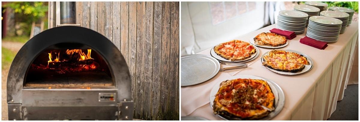 Camrose Hill Wedding pizza buffet