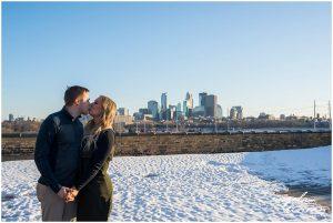 North East Minneapolis engagement / patio deck