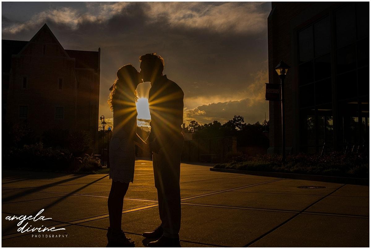 St. Thomas Engagement Session sunset kiss