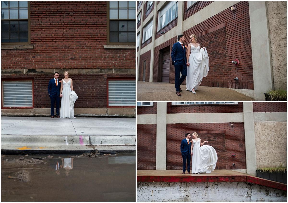 Neu Neu Wedding bride and groom outside