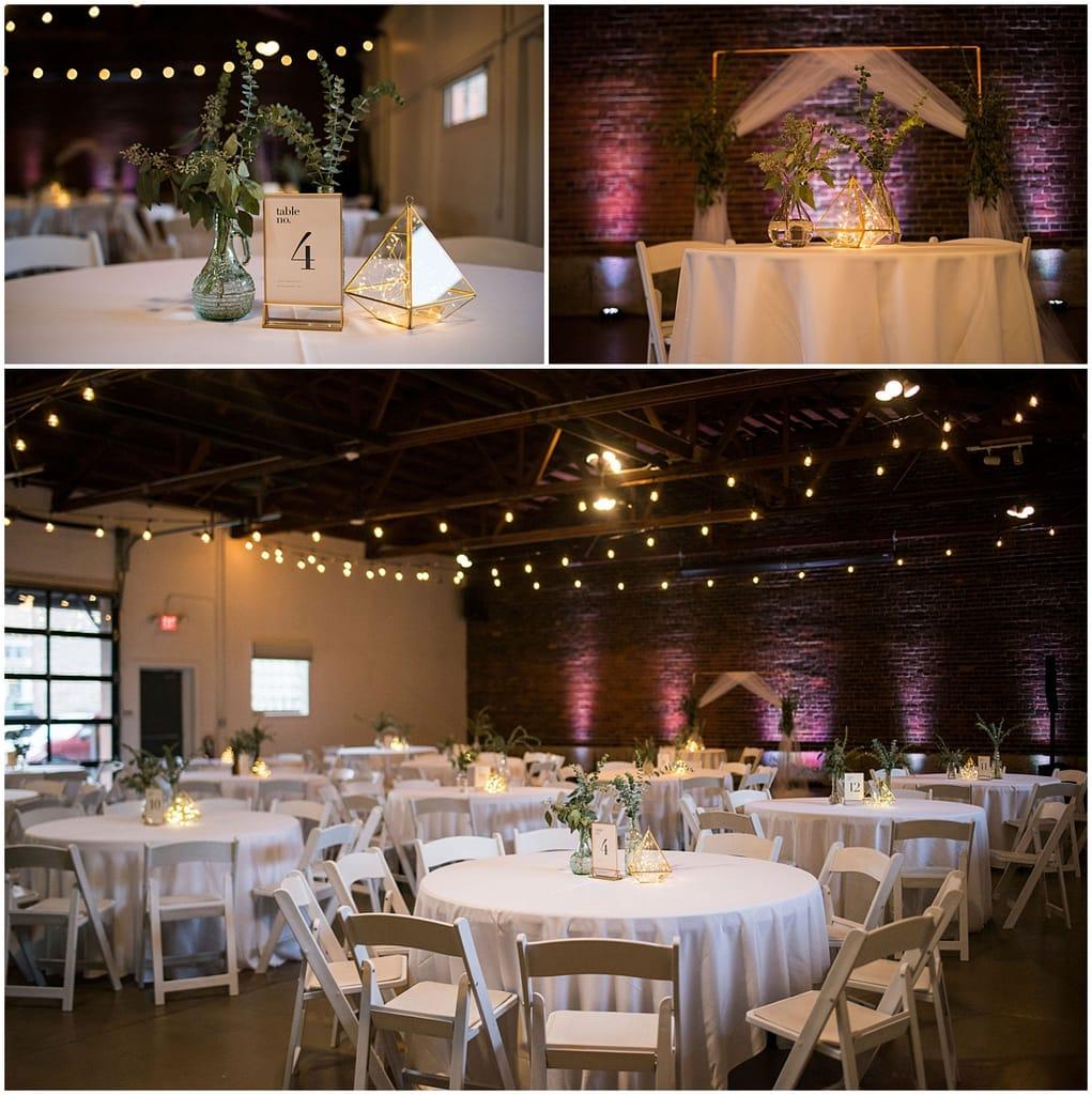 Neu Neu Wedding reception tables