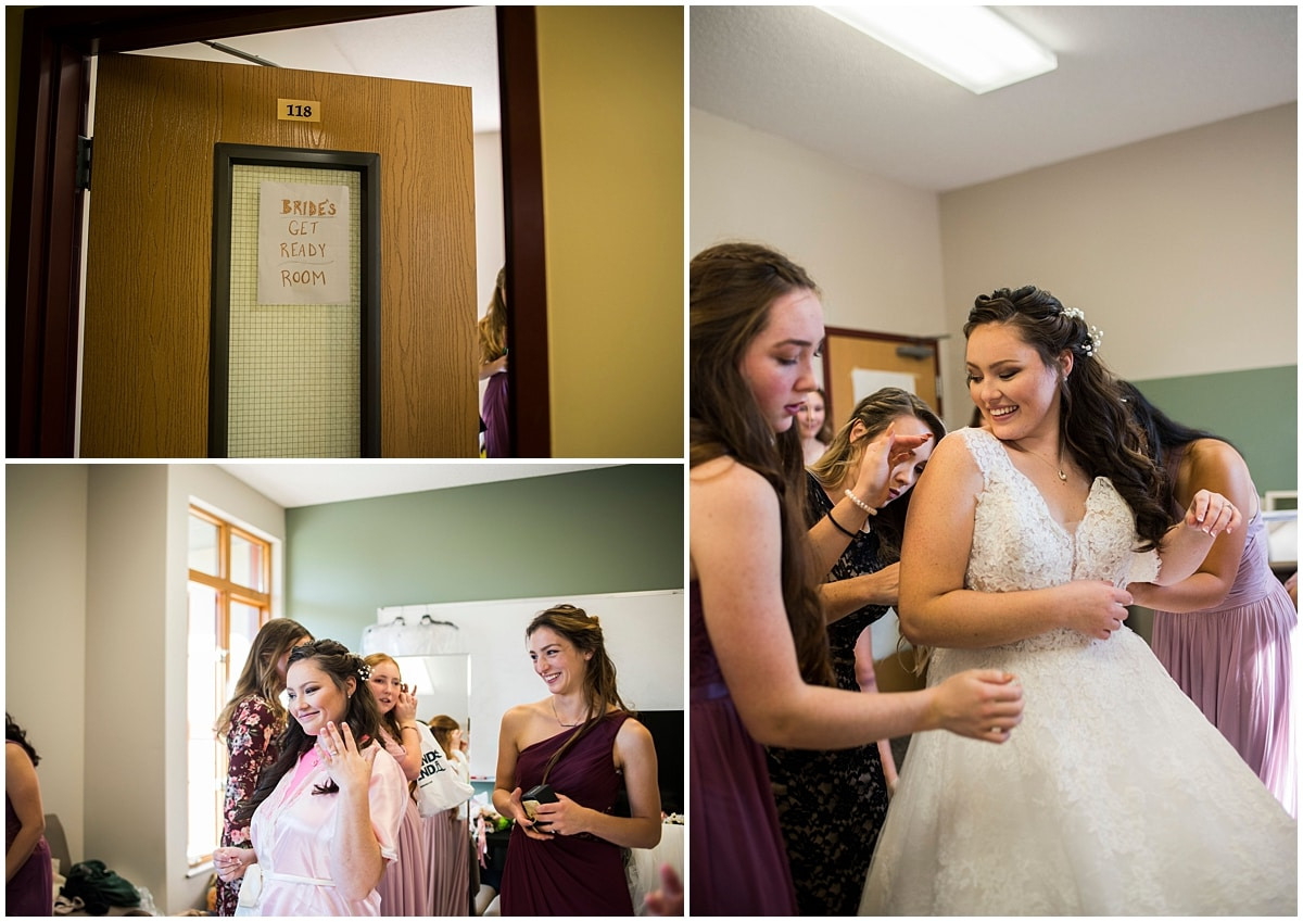 Rogers Minnesota Wedding Photography bride getting ready