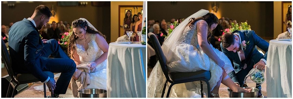 Rogers Minnesota Wedding Photography washing feet