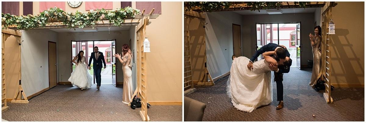 Rogers Minnesota Wedding Photography reception entrance