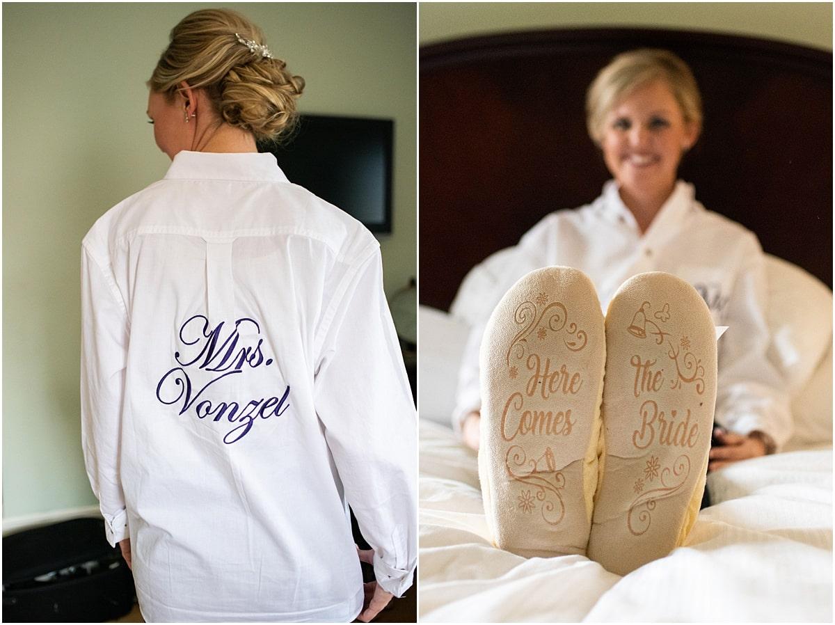 Woman's Club Minneapolis Wedding bride slippers