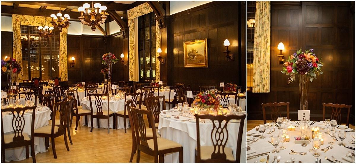 Woman's Club Minneapolis Wedding reception tables
