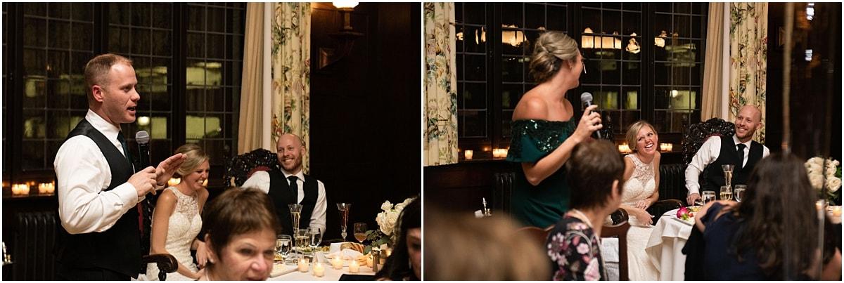 Woman's Club Minneapolis Wedding toasts
