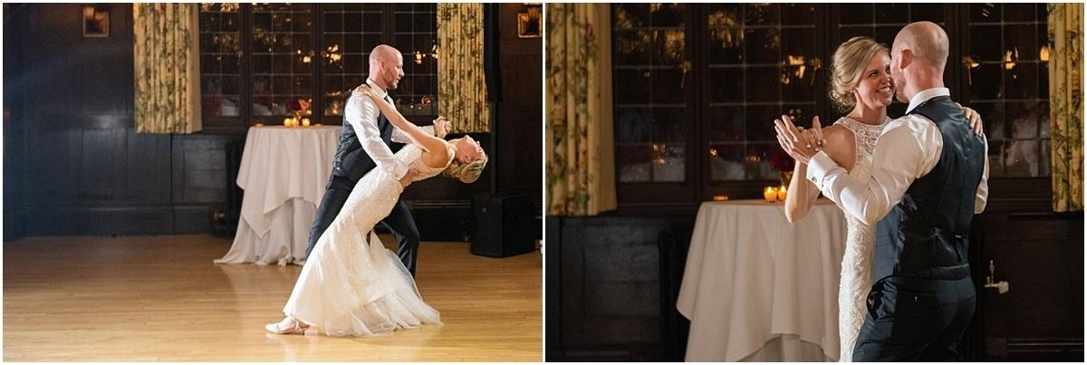 Woman's Club Minneapolis Wedding first dance