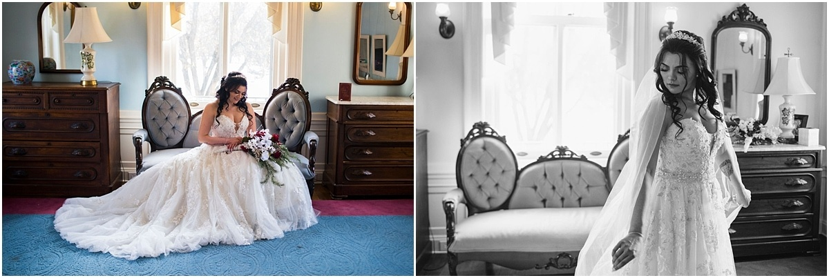 Gale Mansion Christmas Wedding / Beauty and the Beast Themed bride