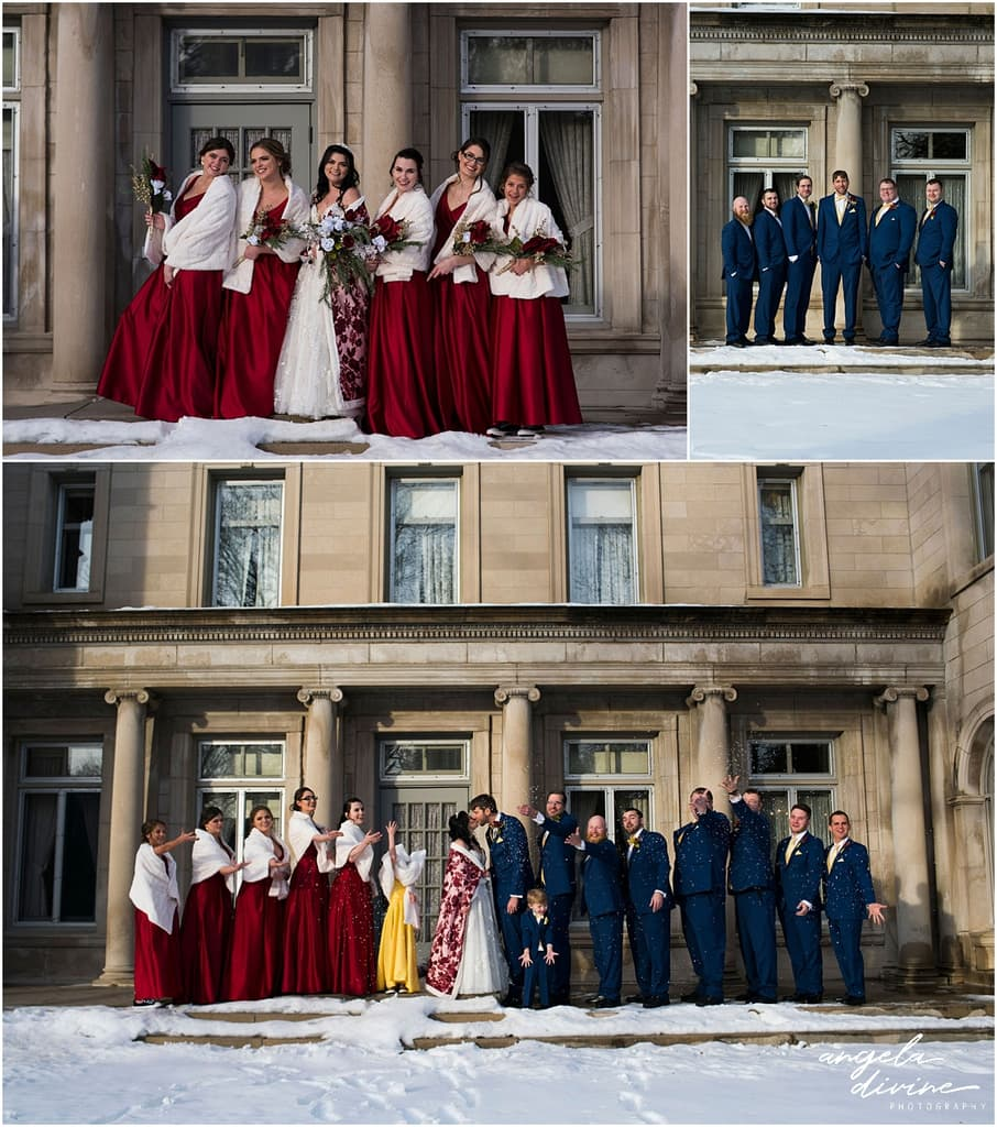 Gale Mansion Christmas Wedding / Beauty and the Beast Themed bridal party