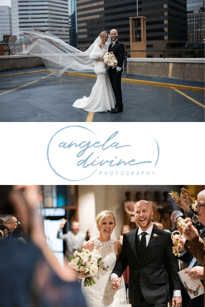 Maggie and Eric met in an adventure and events group. They were married last year at St. Olaf Catholic Church, Minneapolis, MN, then celebrated with family and friends at the Woman's Club Minneapolis. Check out the images and stories from their beautiful wedding on the blog. | Angela Divine Photography | Minneapolis wedding + brand photographer | https://angeladivinephotography.com/womans-club-minneapolis-wedding-maggie-eric