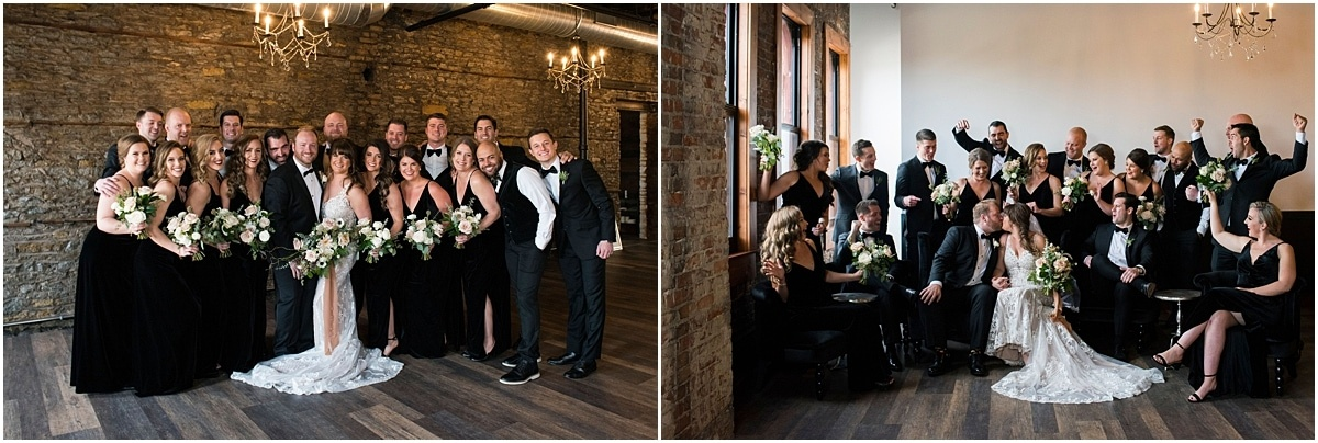 earl and wilson event center wedding bridal party