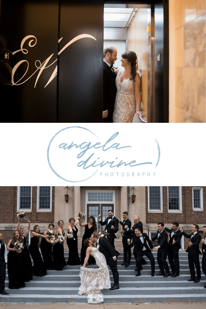 These pictures are from a winter wedding I photographed at Earl and Wilson Event Center in St. Paul, Minnesota. Annie and Tyler have the kind of fun, welcoming love that feels contagious. Head to the blog to see more of their special wedding day. | Angela Divine Photography | Minneapolis wedding + brand photographer | #wedding #minnesota #winterwedding | https://angeladivinephotography.com/earl-and-wilson-event-center-wedding-annie-tyler