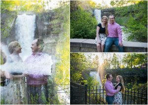 Minneapolis waterfall engagement session