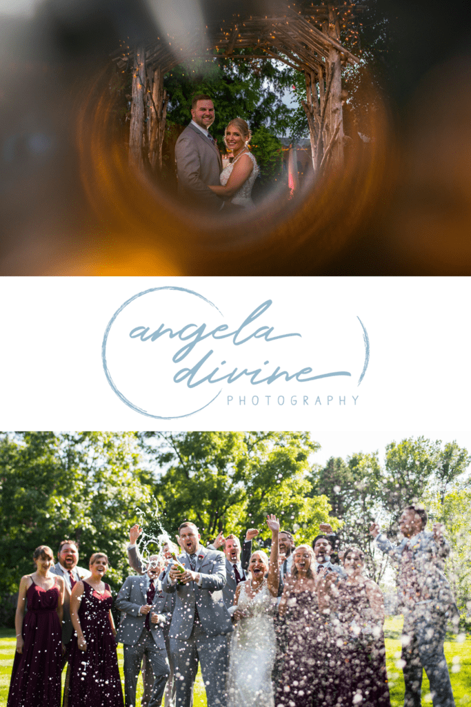 These photos are from a summer wedding and reception at the Gardens of Castle Rock in Northfield, MN. Visit my blog for my favorite photos from their beautiful wedding day. | Angela Divine Photography | Minneapolis wedding + brand photographer | #wedding #summerwedding #gardensofcastlerock #outdoorwedding #weddingphotography