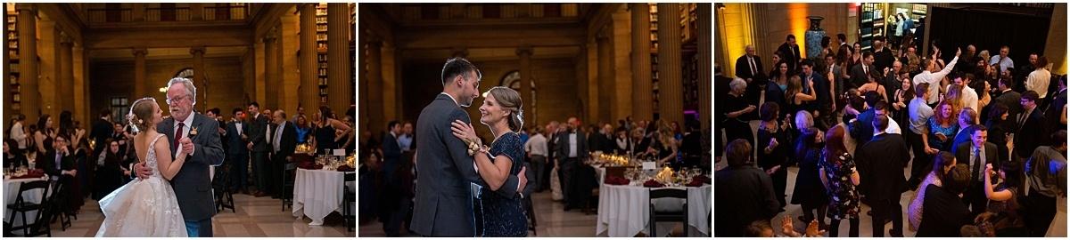 James J Hill Center Wedding guests dancing at reception
