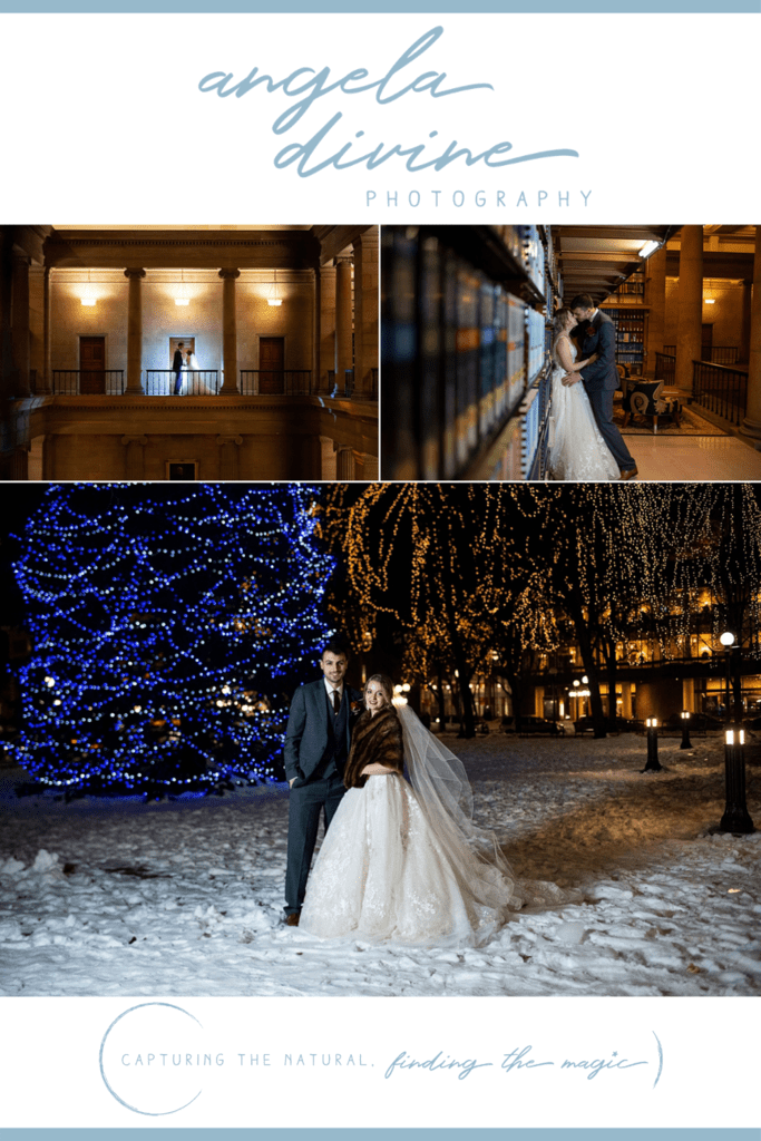 These pictures are from a winter wedding I photographed at James J Hill in St. Paul, Minnesota. Britt and Paul met years ago and then settled down in Chicago. Head to the blog to see more of their special wedding day.   Angela Divine Photography   Minneapolis wedding + brand photographer   #wedding #minnesota #winterwedding   https://angeladivinephotography.com/james-j-hill-wedding