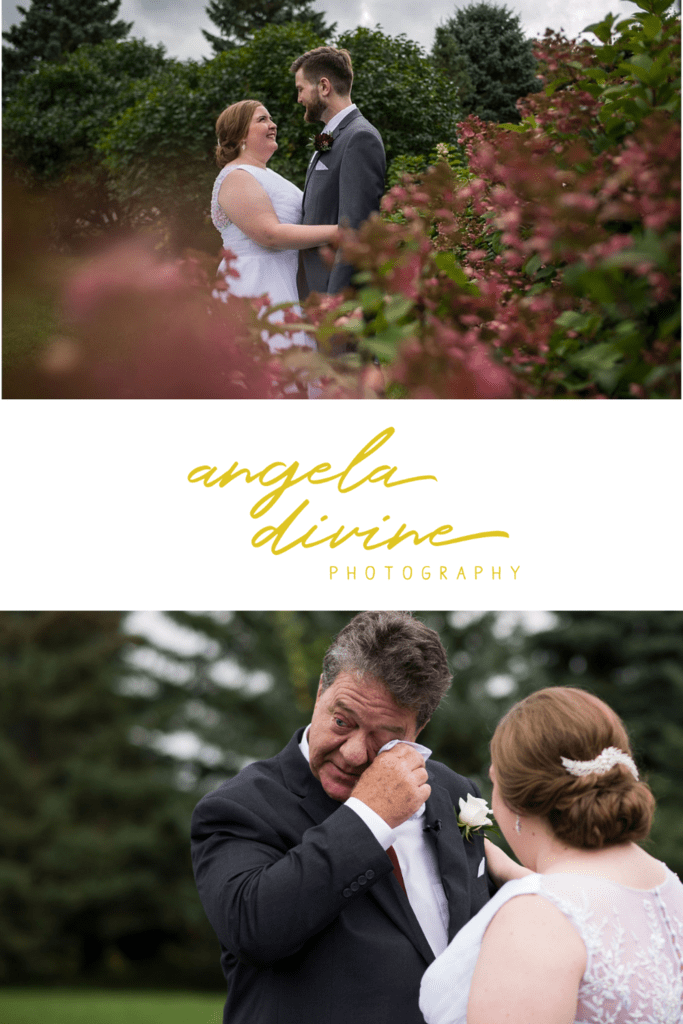 These photos are from a Glenhaven Events fall wedding in Farmington, Minnesota. Visit my blog for more photos from this beautiful wedding ceremony and reception. | Angela Divine Photography | Minneapolis wedding + brand photographer | #wedding #fallwedding #minnesotaweddingvenues #minnesotaweddingphotographer | https://angeladivinephotography.com/glenhaven-events-wedding-photography-for-amanda-kevin-brown