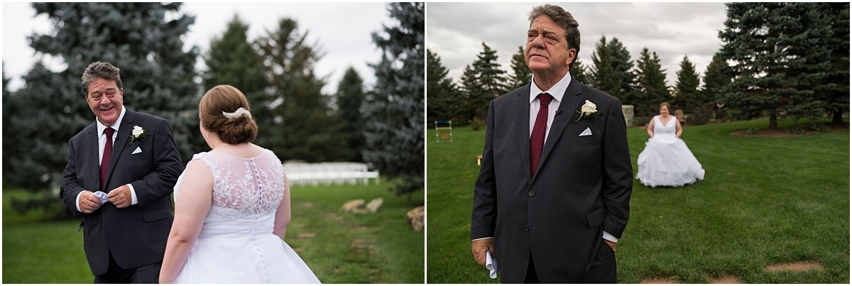 Glenhaven Events Wedding Photography father sees bride