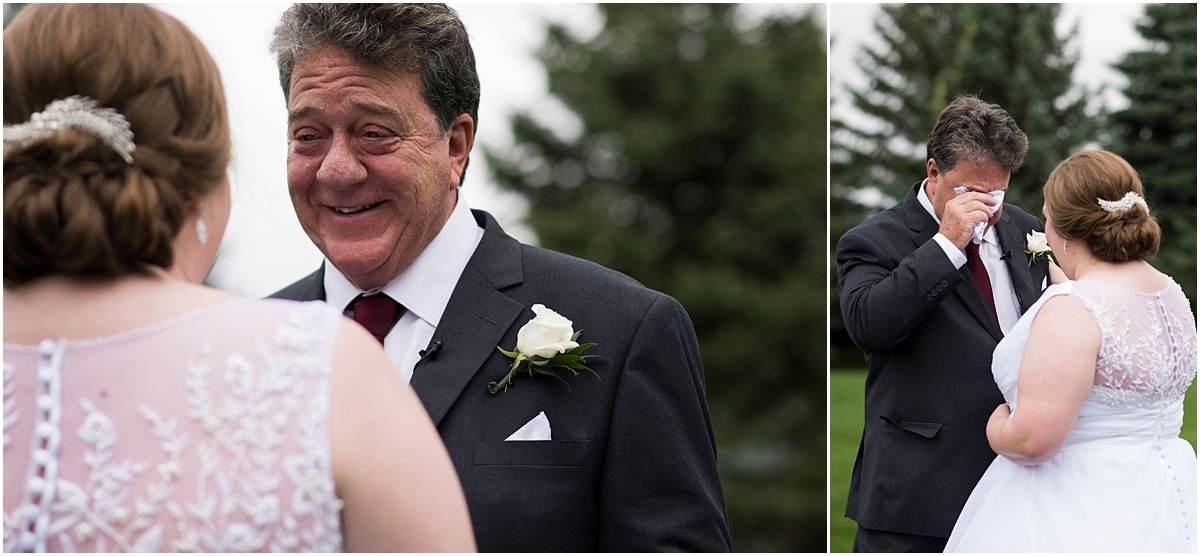 father cries when seeing bride for the first time