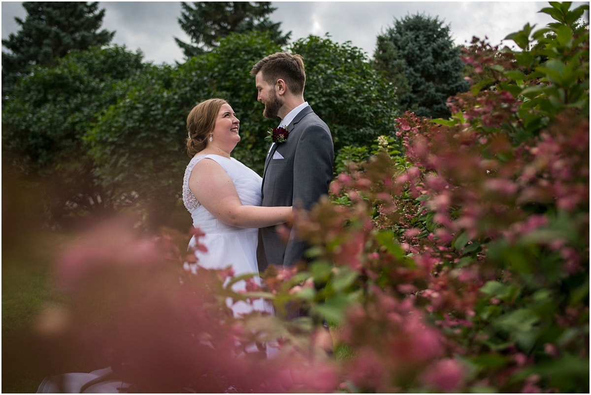 Glenhaven Events Wedding Photography bride and groom pose outdoors