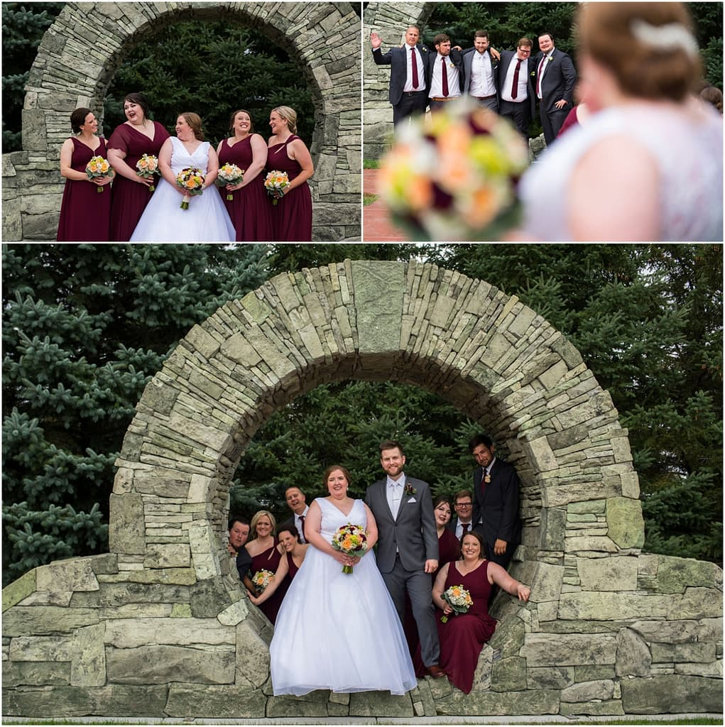 Glenhaven Events Wedding Photography bridal party in archway