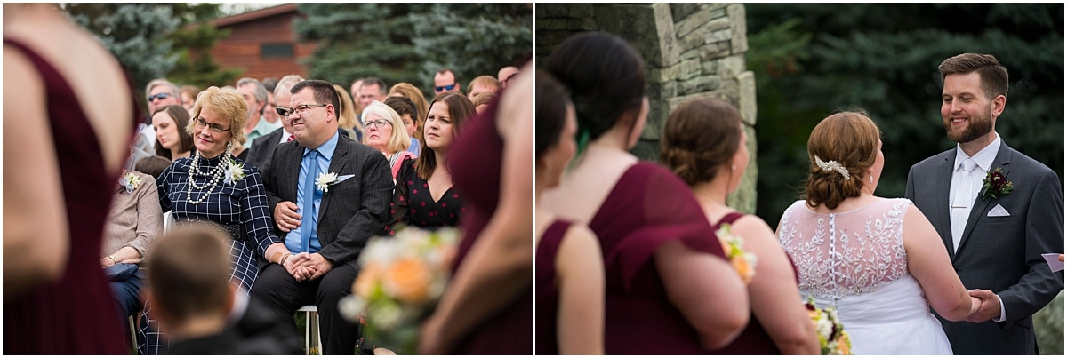 Glenhaven Events Wedding Photography weddings guests watch ceremony