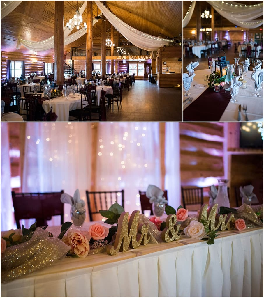 Glenhaven Events Wedding Photography reception tables